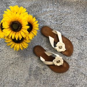 Tory Burch Floral Sandals